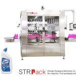 Máquina de enchimento de líquidos para garrafas de pescoço angular