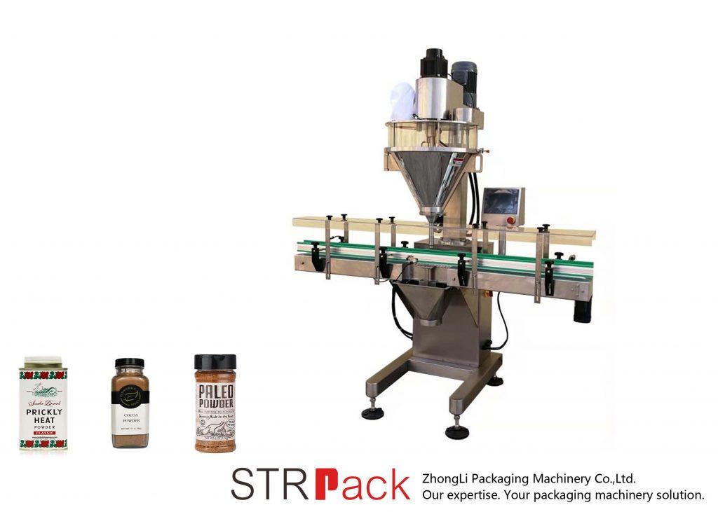 Máquina de enchimento automática de pó de eixo helicoidal
