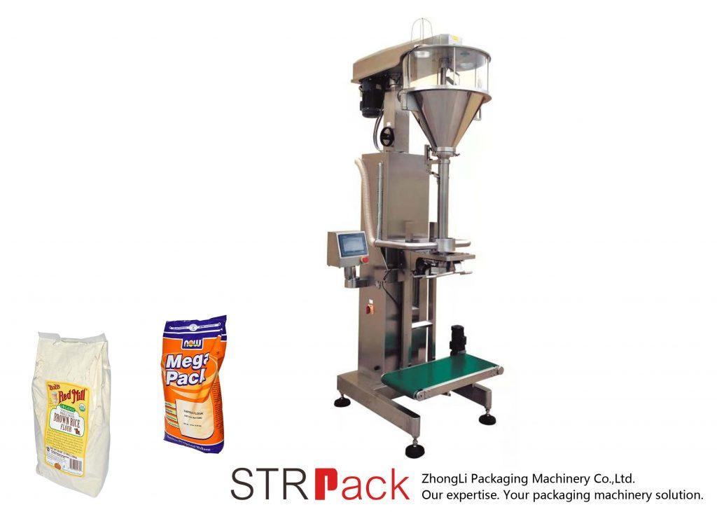 Máquina de enchimento de pó helicoidal com pesador on-line