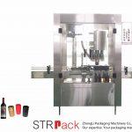 Máquina de friso automática com tampa de alumínio de 4 cabeças