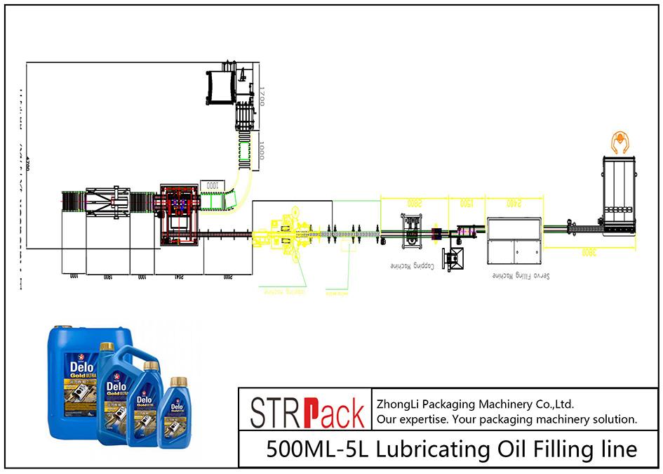 Linha de enchimento automática de óleo lubrificante 500ML-5L