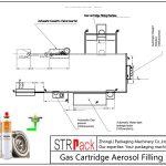 Linha de enchimento de aerossóis automática de cartucho de gás