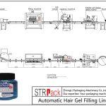 Linha de enchimento automática de gel de cabelo