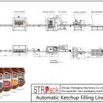 Linha de enchimento automática de ketchup