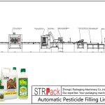Linha de enchimento automática de pesticidas