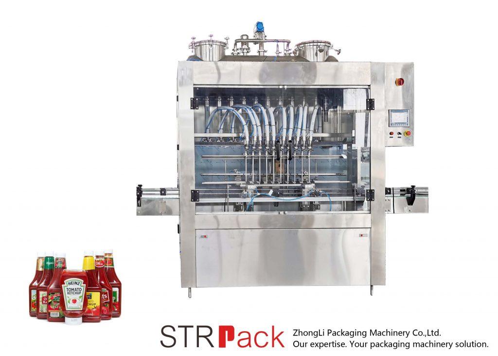 Máquina de enchimento automática de molho