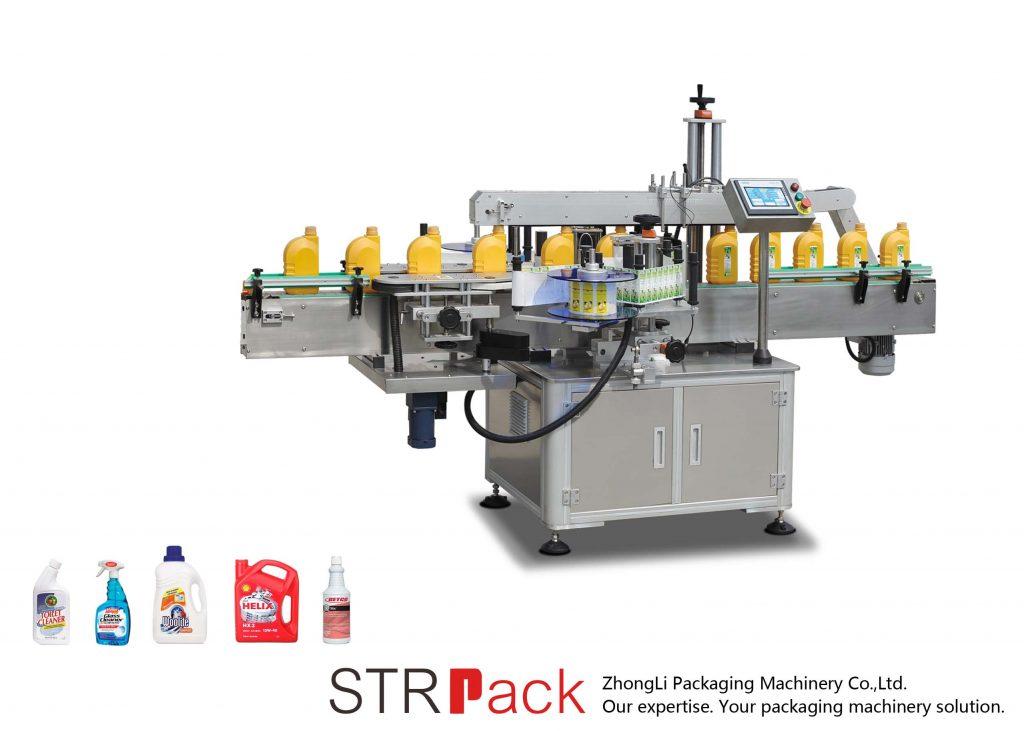 Máquina de etiquetas autoadesiva automática dos lados simples / duplos