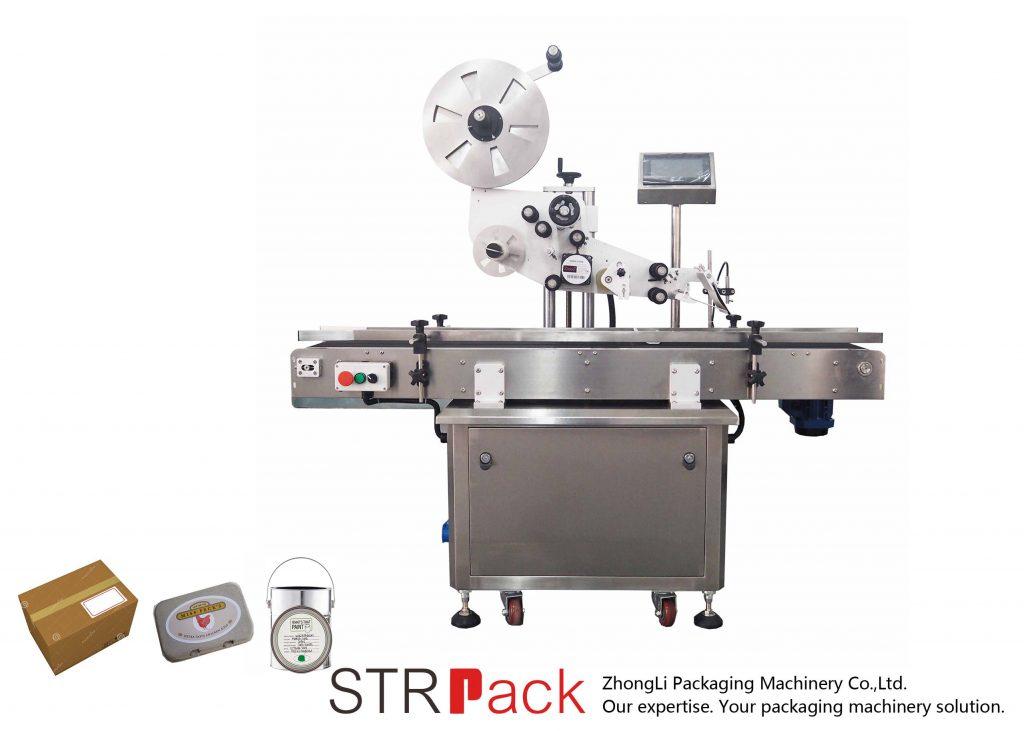Máquina de etiquetas autoadesiva de plano vertical automático