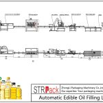 Linha de enchimento automática de óleo comestível
