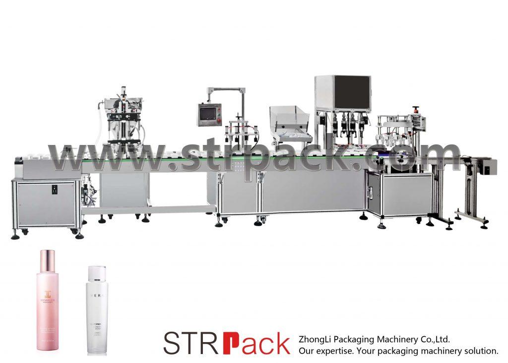 Enchimento automático de emulsão de água e máquina tampadora