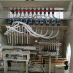 Linha de enchimento líquido corrosivo, linha de enchimento líquida de Harpic, máquina de enchimento do líquido de limpeza do banheiro
