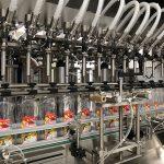 Máquina de enchimento de sabão líquido e máquina de tampar garrafas