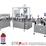 Máquina de enchimento e tampagem de xarope líquido oral