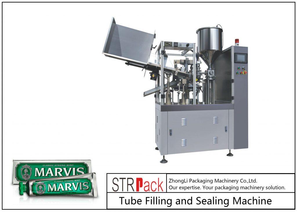 Máquina de enchimento e selagem de tubos plásticos SFS-60