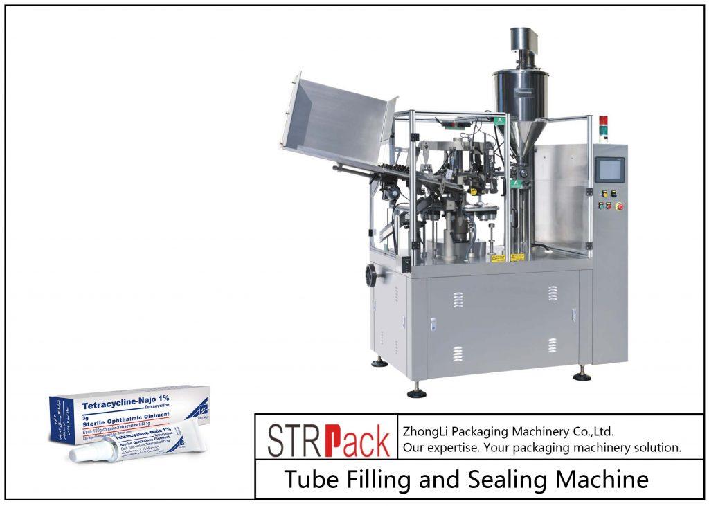 Máquina de enchimento e selagem de tubos de metal SFS-80Z