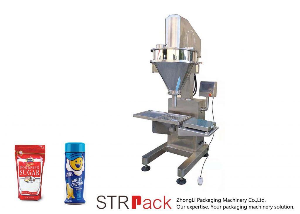 Máquina de enchimento semiautomática do pó de eixo helicoidal