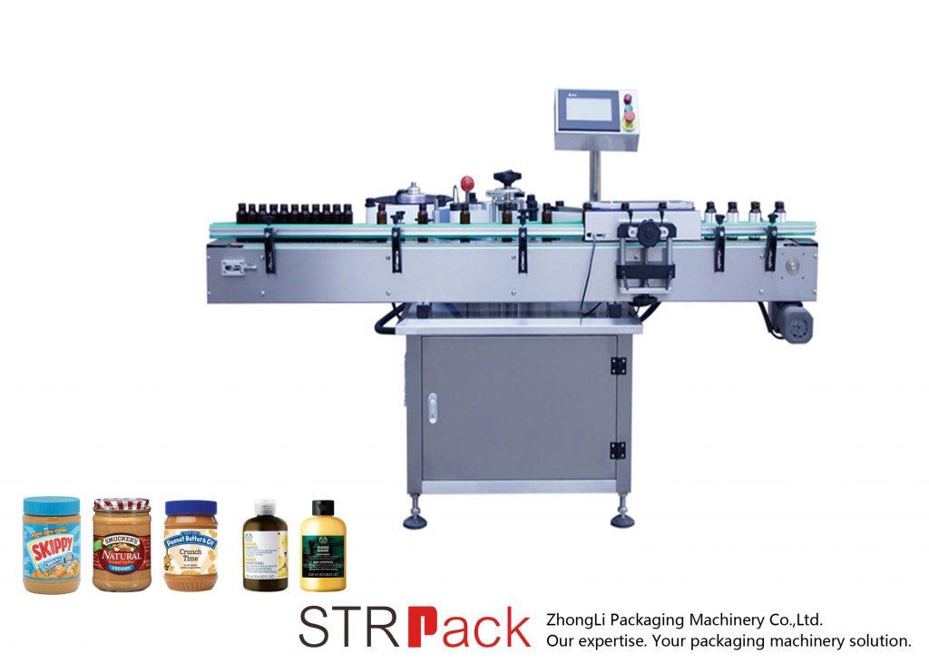 Máquina de etiquetas vertical autoadesiva para garrafas redondas